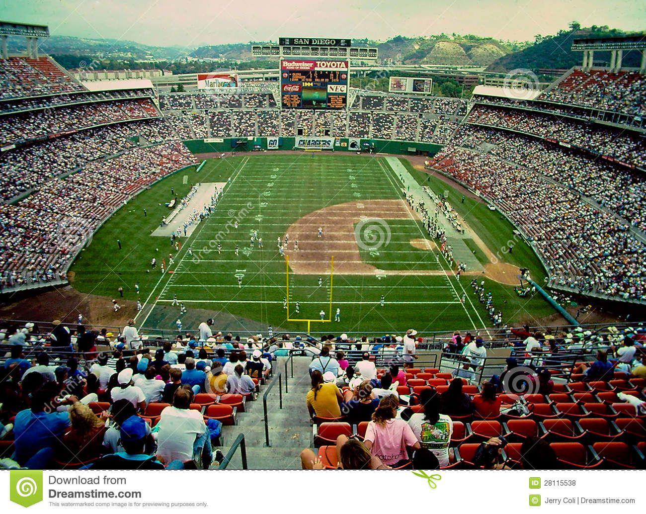 murphy stadium san diego | Vintage image of Jack Murphy ... Qualcomm Stadium Baseballfootball