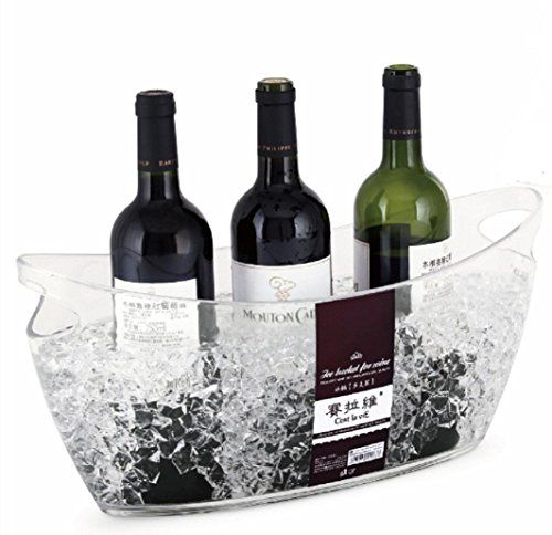 C Est La Vie Longtian Clear Polystyrene Champagne Wine Bucket Ice Bucket Large Wine Bucket Wine Bottle Polystyrene