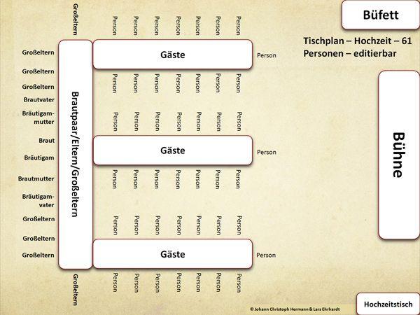 Sitzordnung Hochzeit Vorlage Tischordnung 9