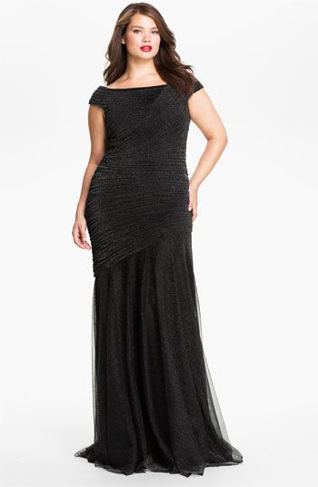 32cbc06864b Tadashi Shoji Ruched Metallic Gown (Plus size) available at  Nordstrom
