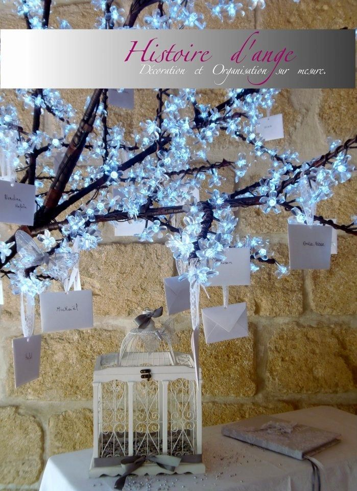 arbre lumineux mariage pour plan de table d co mariage pinterest plan de tables mariage. Black Bedroom Furniture Sets. Home Design Ideas