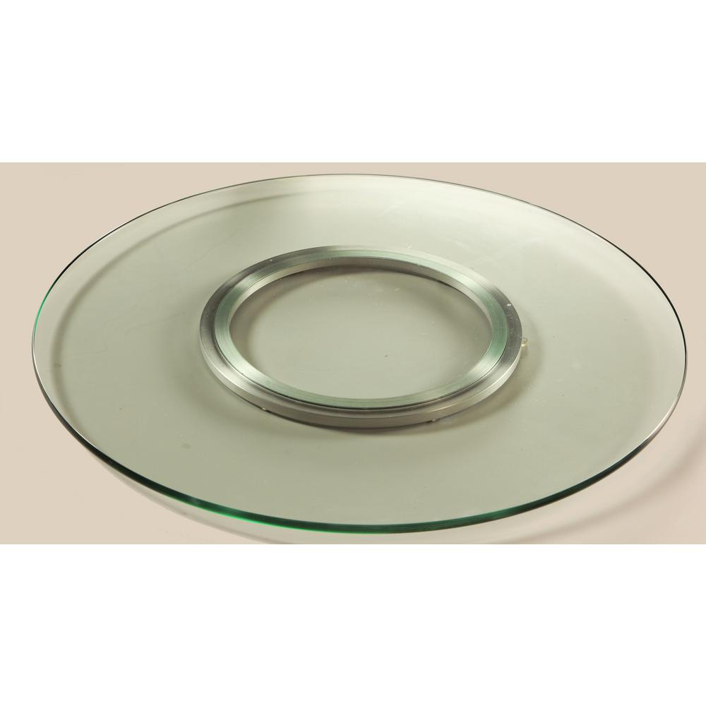 Lazy Susan 24 In Round Clear Glass Spinning Tray Lazy Susan 24 Clear The Home Depot Chintaly Lazy Susan Glass Fit
