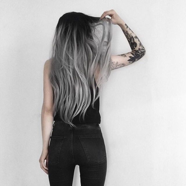 Black And Grey Ombré Hair