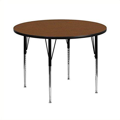 Genial Flash Furniture 42u0027u0027 Round Oak HP Laminate Activity Table   Height  Adjustable Short Legs | Furniture | Pinterest | Short Legs