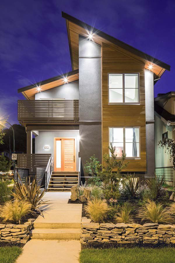 Modern Exterior Home Design Ideas Remodels Photos: Contemporary Renovation With Sleek Interiors In Vancouver