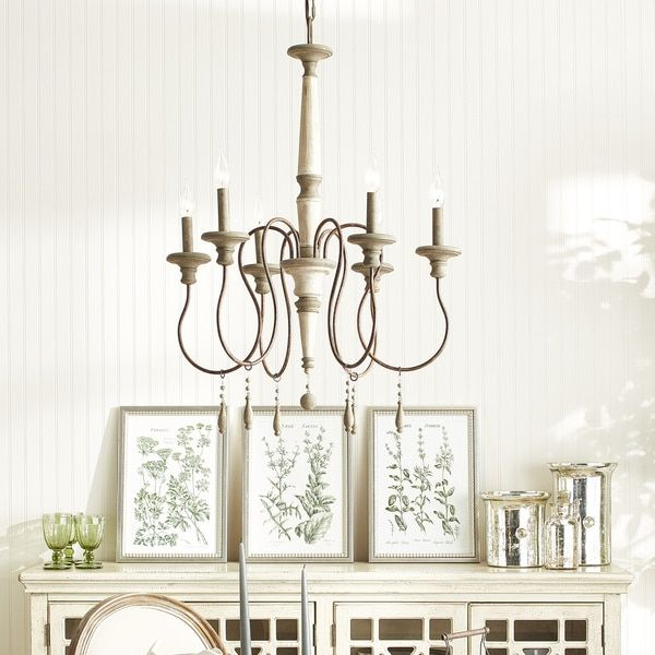 Austin Allen Company Zoe Collection 6 Light French Antique Chandelier