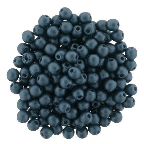 5-03-M25033 Glass Pearls 3mm : Matte - Steel Blue