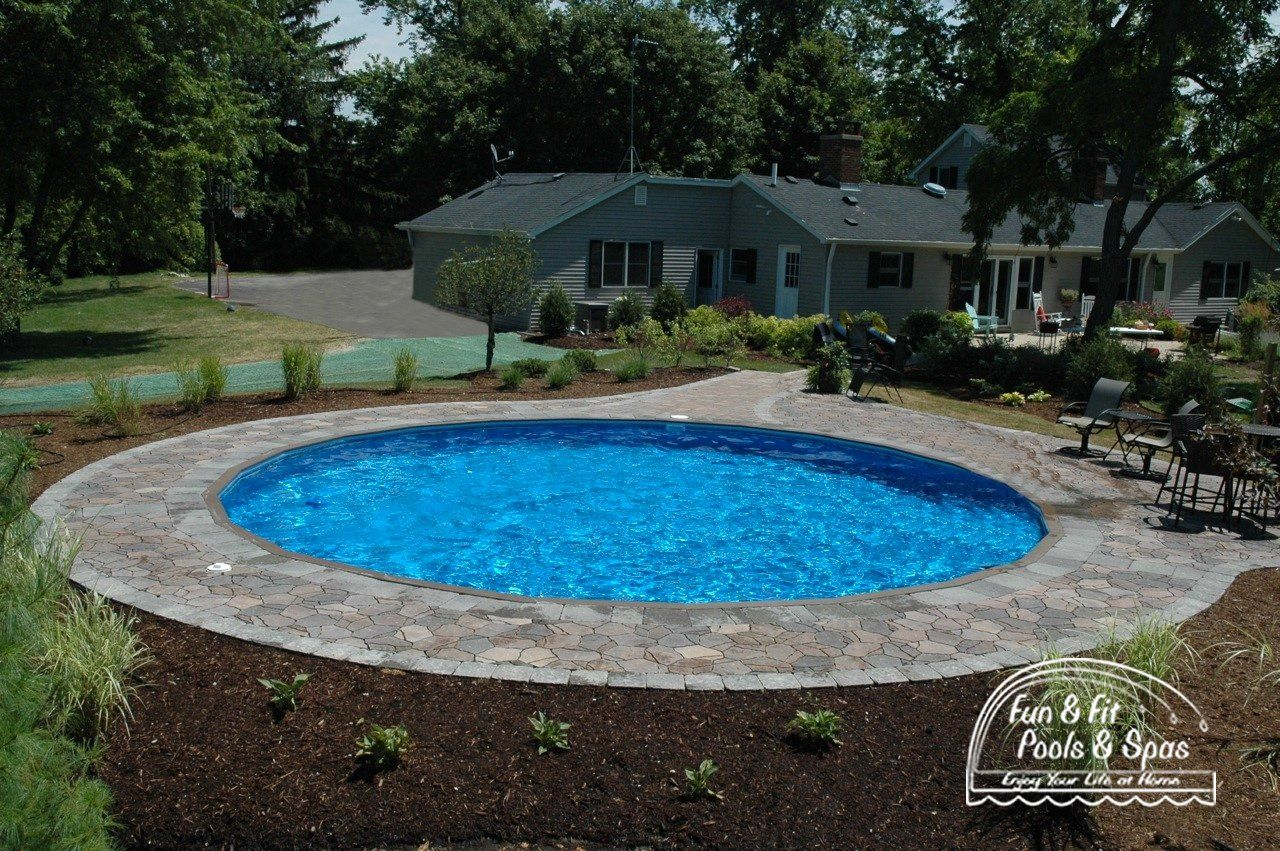 22 Amazing And Unique Above Ground Pool Ideas With Decks Above Ground Pool Landscaping Backyard Pool Landscaping Inground Pool Designs