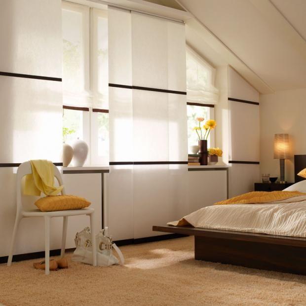 Schiebegardine  - gardinen dekorationsvorschläge wohnzimmer