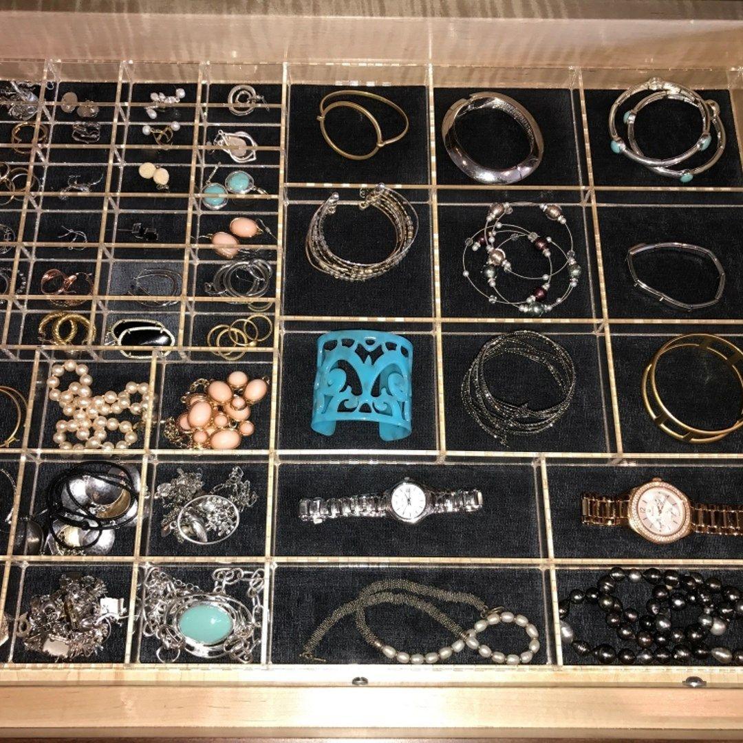 Jewelry Organizer with Liner Custom Acrylic Drawer Organizers