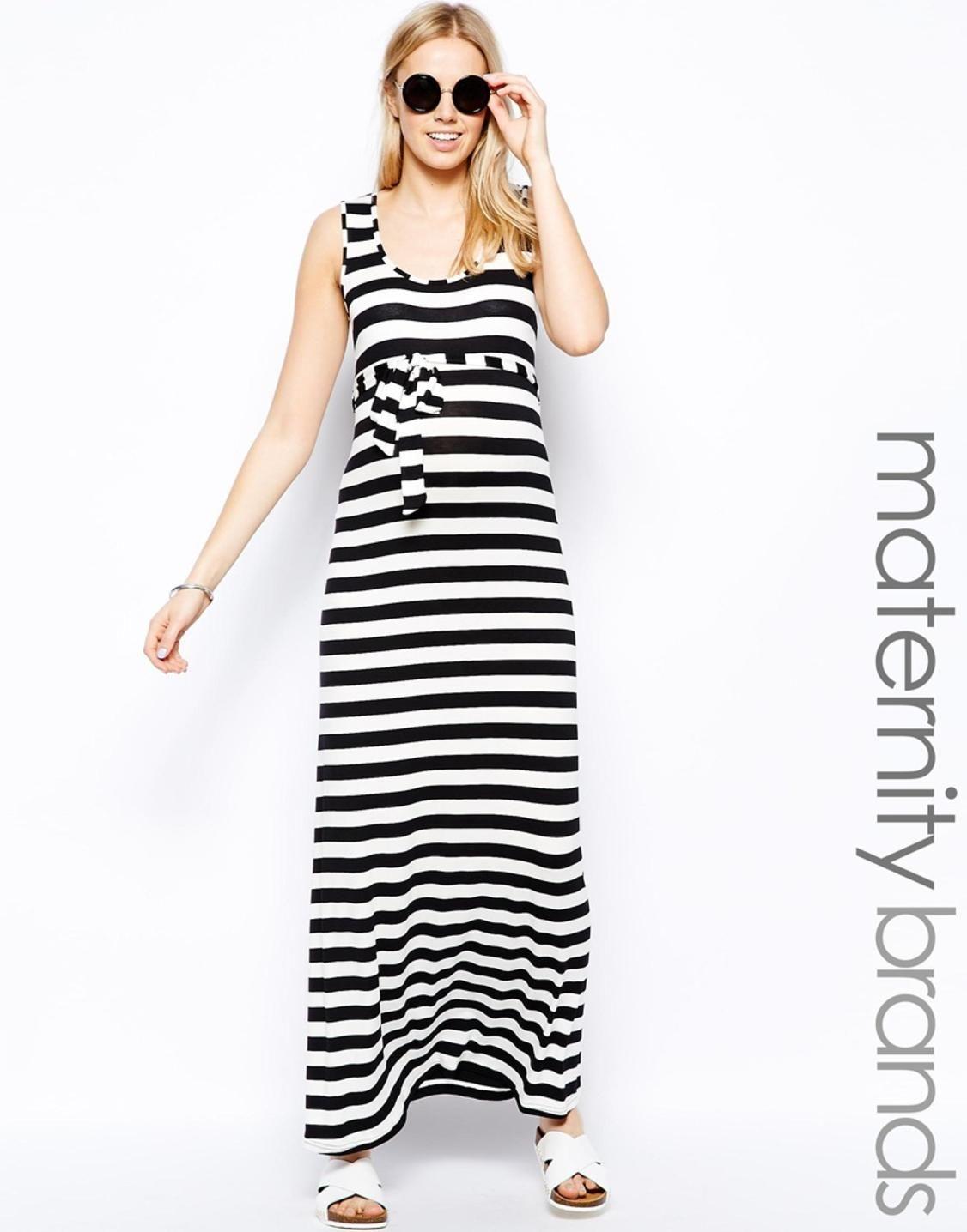 New look maternity stripe jersey maxi dress picvpicwomen