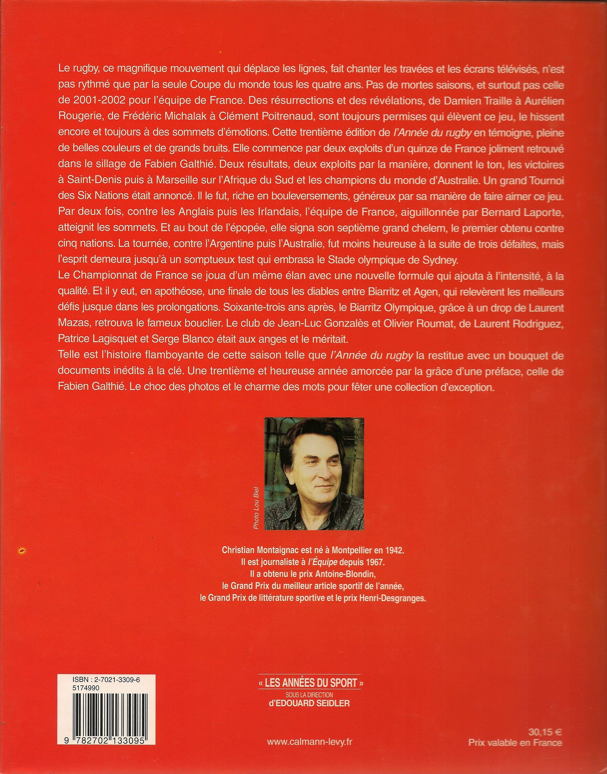 L'Année du Rugby - 2002 - Verso