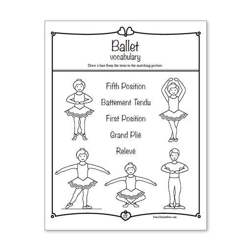 Ballet Activity Sheets Level 1 Digital Ballet Pinterest
