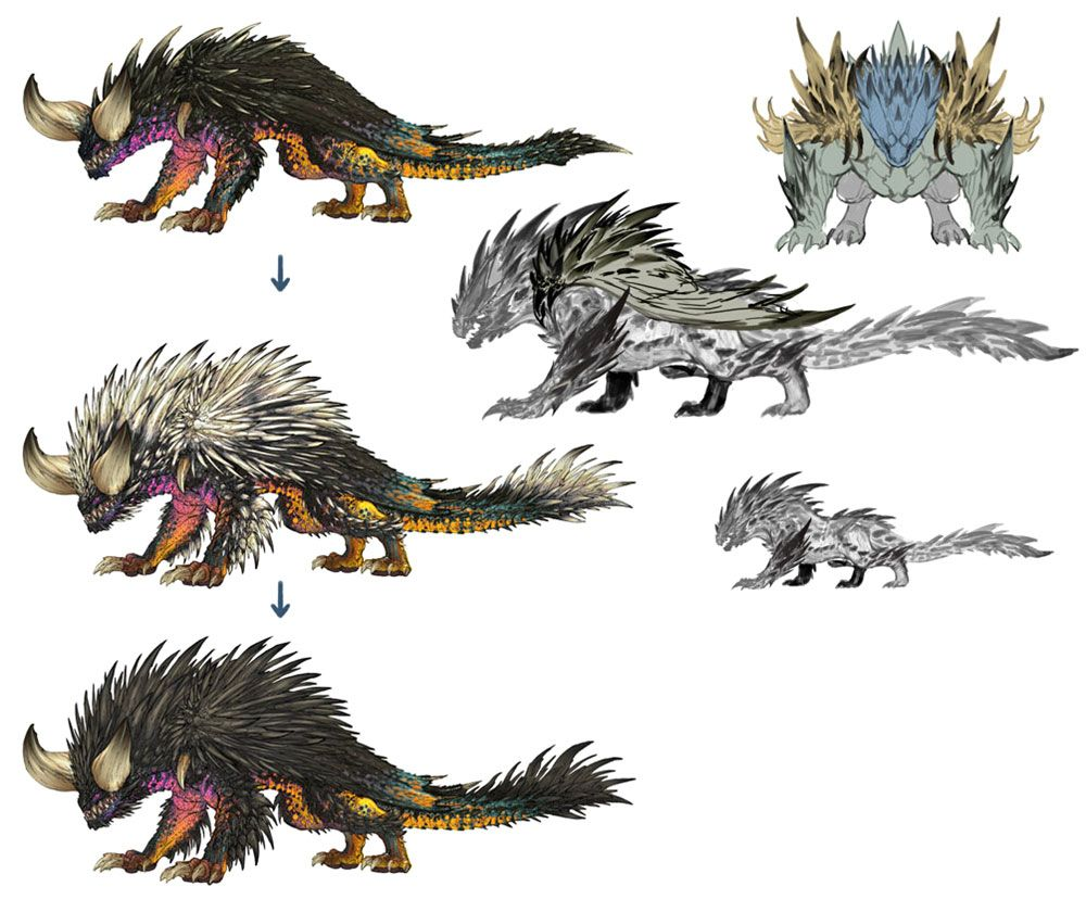 Nergigante Concept From Monster Hunter World Monster