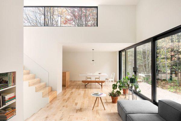 Maison terrebonne by la shed architecture interior designresidential also    split level bungalow goes modern interiors rh pinterest