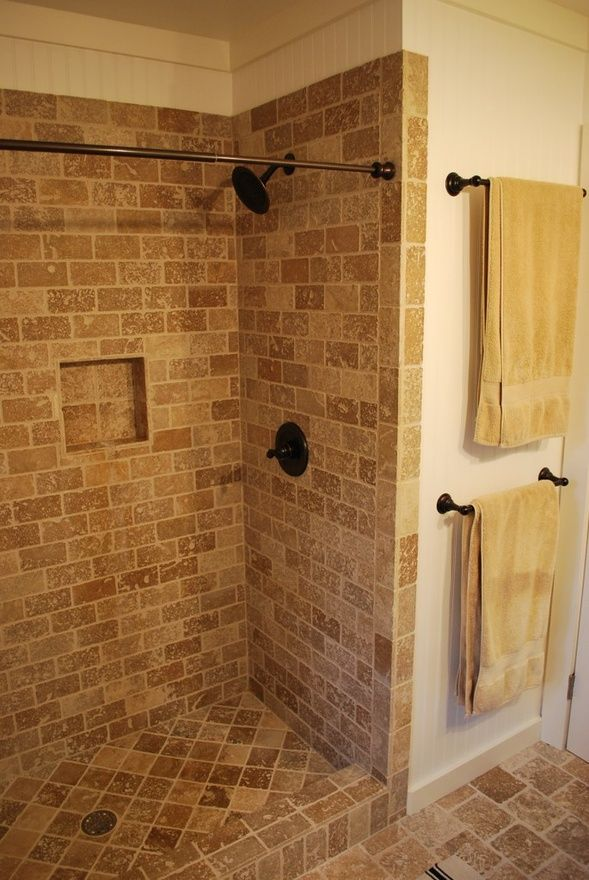 Standing Tile Shower Another Idea For Our Master Bath