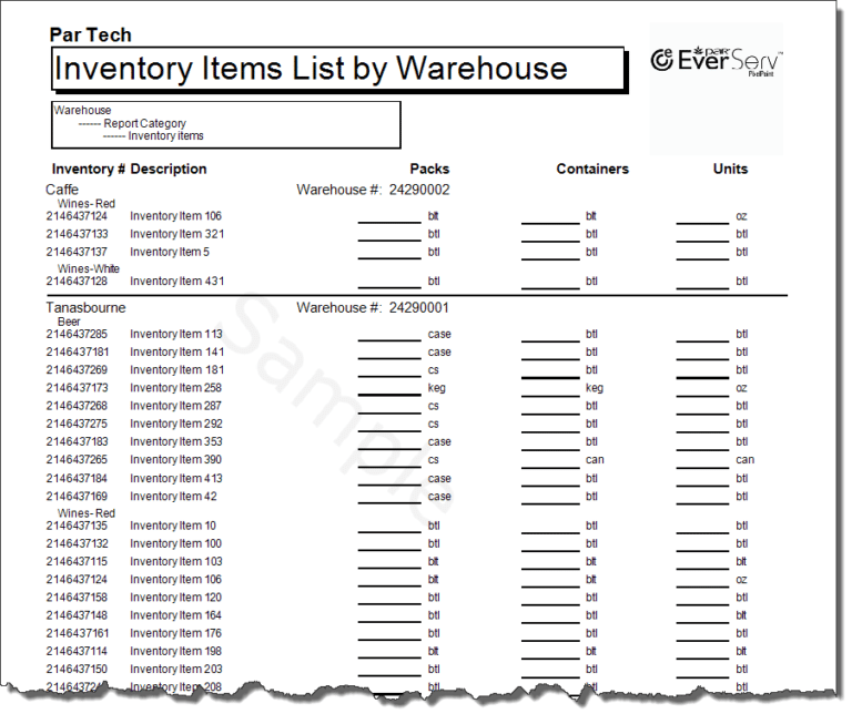 Warehouse Inventory List Template 304 List Template Small Business Organization Templates