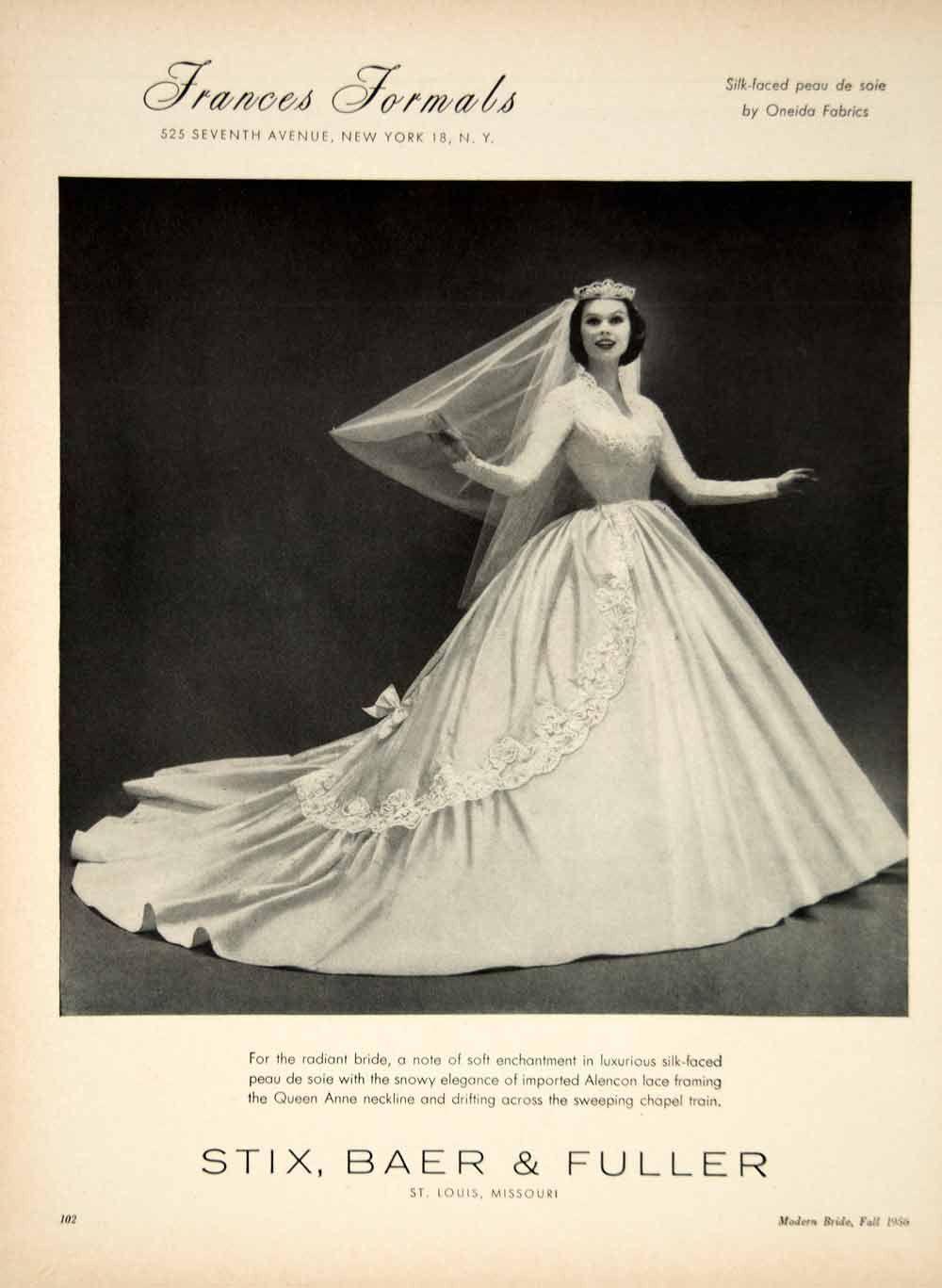 Queen Anne Vintage Wedding Dresses