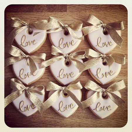 Wedding favours, love biscuits, by Anna Tyler Cakes | Ideas for ...