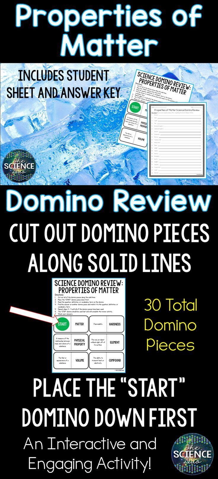 Properties of Matter Domino Review Properties of matter