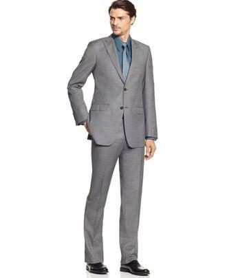 Calvin Klein BODY Suit, Gray Sharkskin Slim Fit | Wedding ...