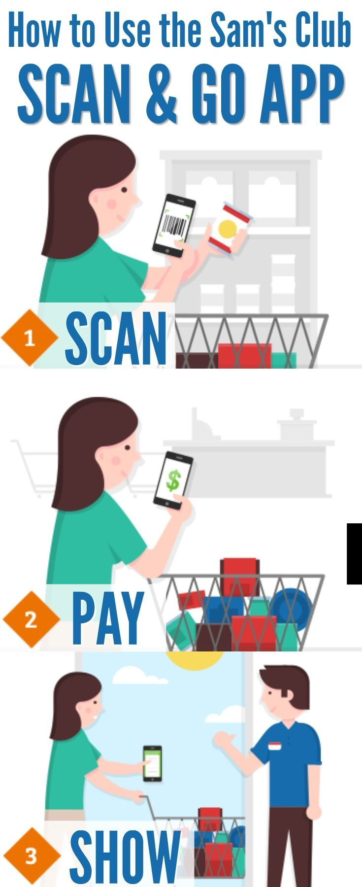 How to Use the Sam's Club Scan & Go App Chores for kids