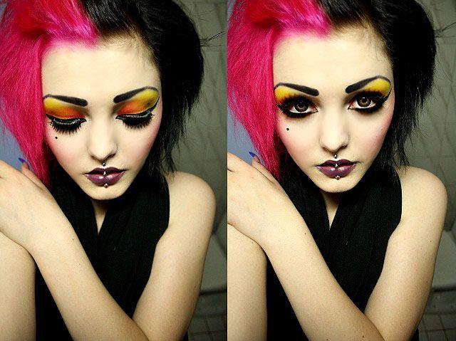 pink & black hair totally