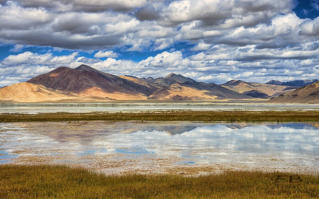 The amazing Tso Kar a salt lake in Ladakh north India [OC][1600x1000]