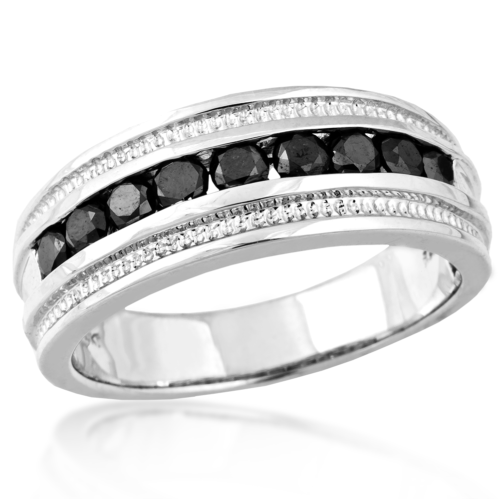 Black Diamond Wedding Bands For Women Black gold wedding rings uk