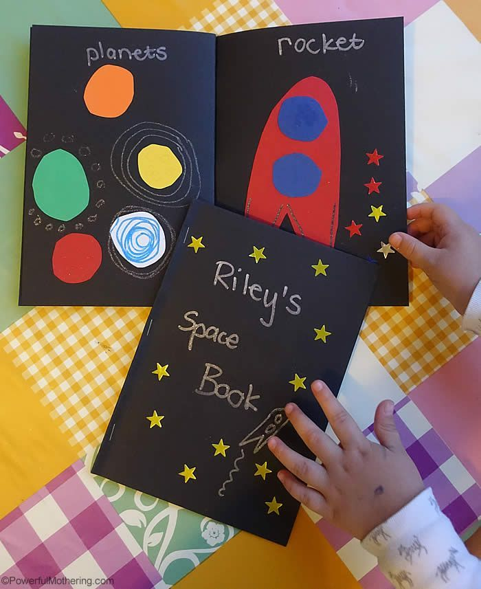 Space Craft Ideas For Kids Part - 20: Make This Cute Space Book To Encourage Preschoolers To Learn About Space  And What Is In