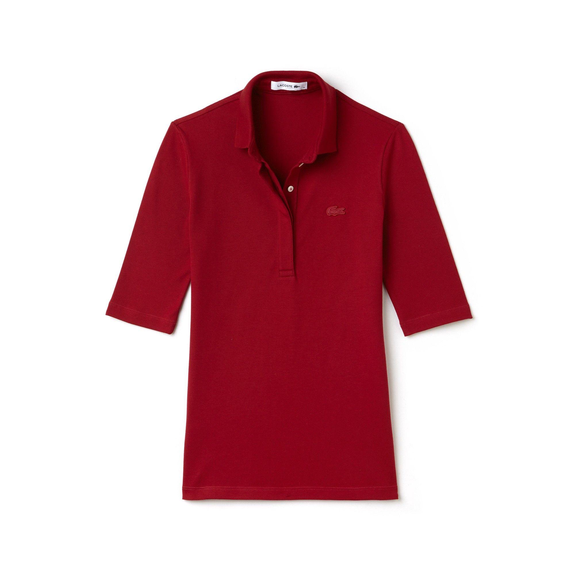 0f5017c97e Lacoste Women's Slim Fit Stretch Mini Piqué Polo Shirt - White Xxs ...