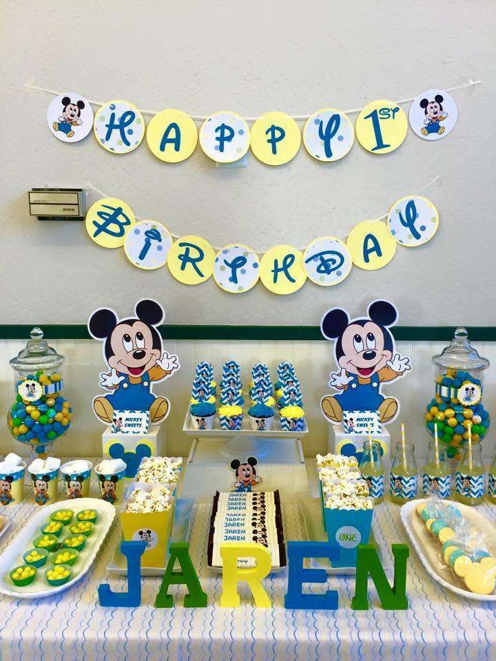 Cumpleanos De Mickey Mouse Baby Andrew 2nd Bday Baby Mouse