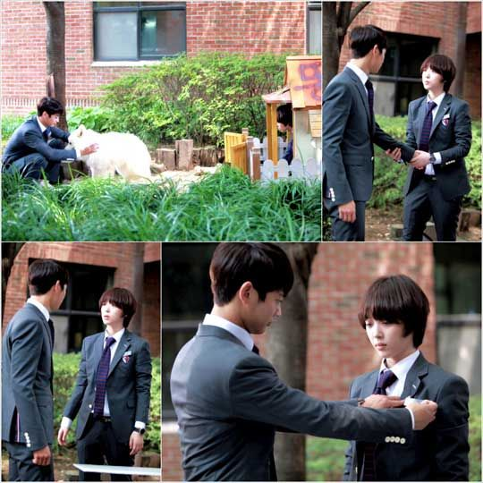 New still cuts of f(x)'s Sulli and SHINee's Minho from the recording of To the Beautiful You have been revealed.