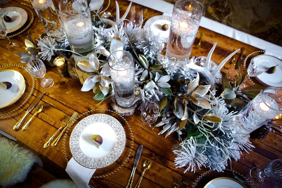 The Frosted Petticoat Woodsy Winter Winter Centerpieces Flower Centerpieces Wedding Hogwarts Christmas