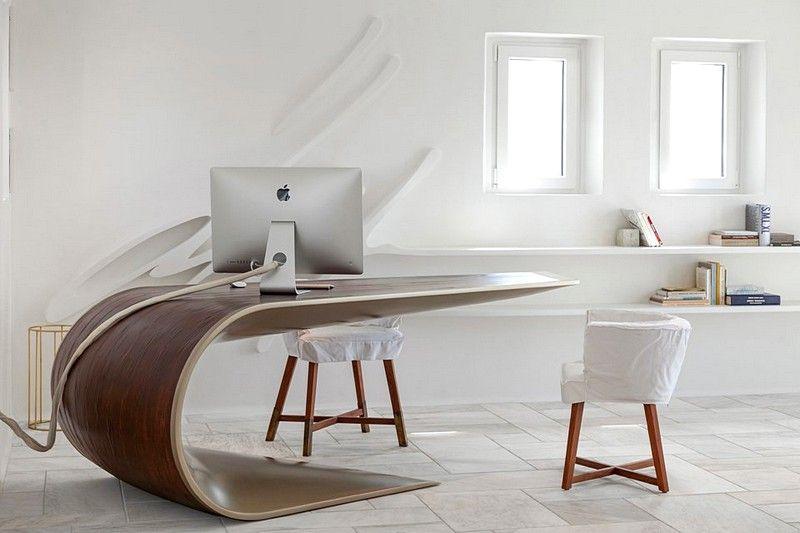Mykonos Office An Ergonomic And Elegant Workspace Eleftherios Ambatzis Minimalism Interior Office Workplace Design