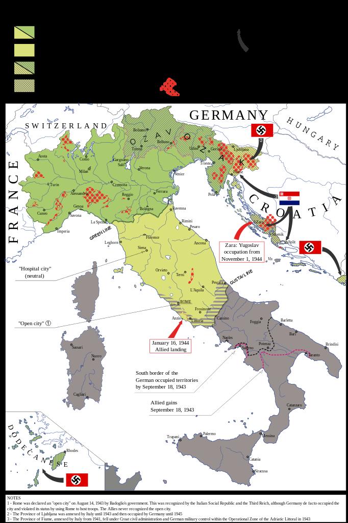 Cartina D Italia 1940.L Italia Divisa 1943 45 Mappe Antiche Mappa Dell Italia Cartografia