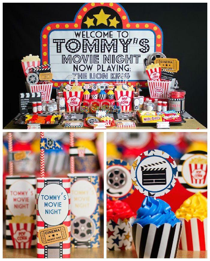 movie birthday party Movie Night Birthday Party | Movie Night Party Ideas | Party  movie birthday party