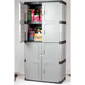 Rubbermaid Mica Charcoal Full Double Door Cabinet Rhp 7083