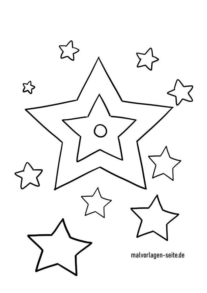 Malvorlage Sterne Malvorlage stern Ausmalbild stern
