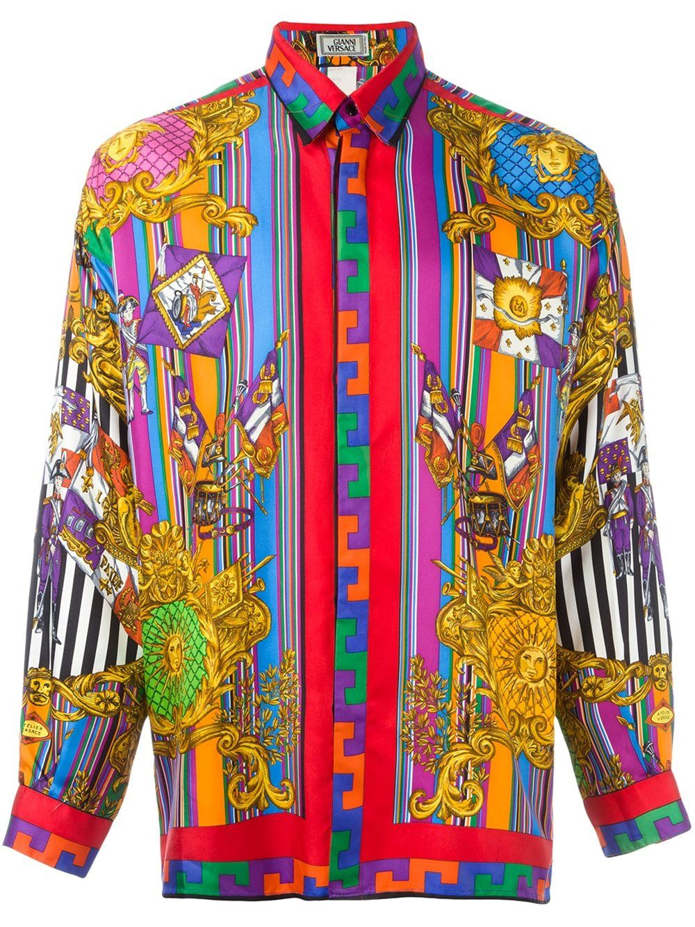 3571be620c4811 Versace Vintage printed shirt | Versace✨ in 2019 | Versace shirts ...