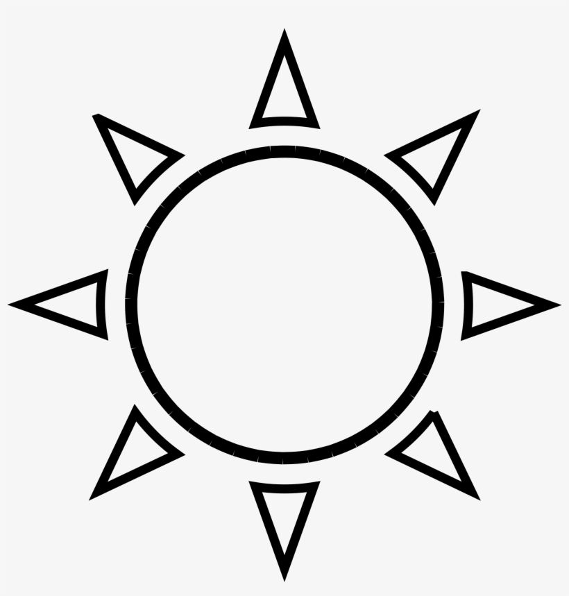 Free Sun Clipart Black And White Pictures Clipartix Sun Outline Sun Tattoo Tattoo Templates