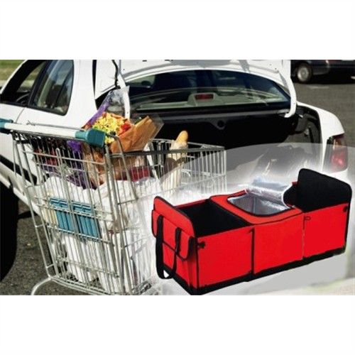 Collapsible Car Boot Organiser 3 Compartments 2 Storage