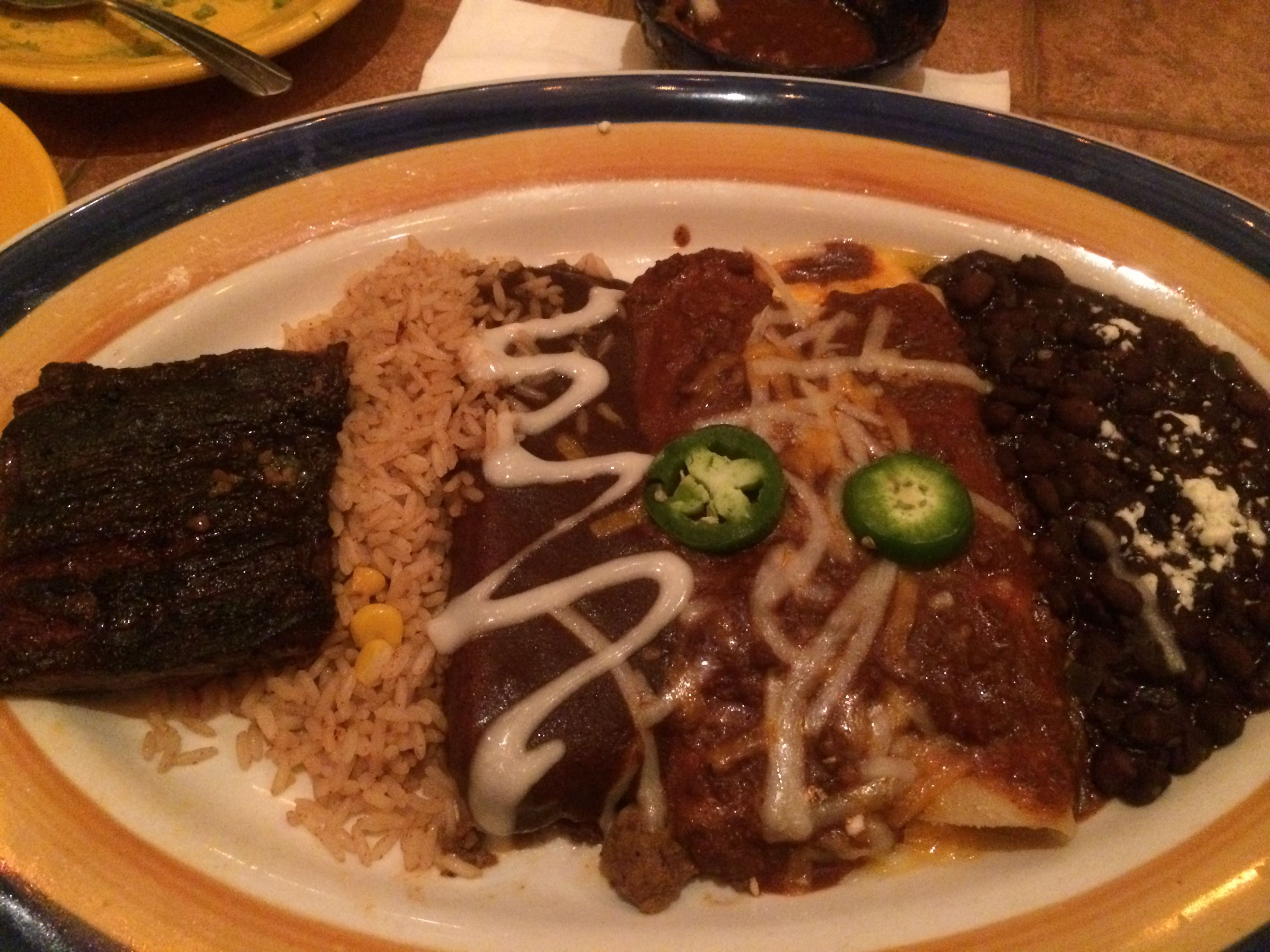 This was my combo plate at On The Border Mexican Grill & Cantina in ...