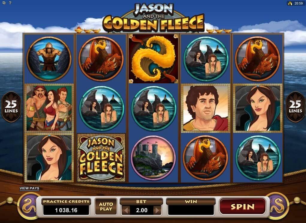 Jason and the golden fleece slot