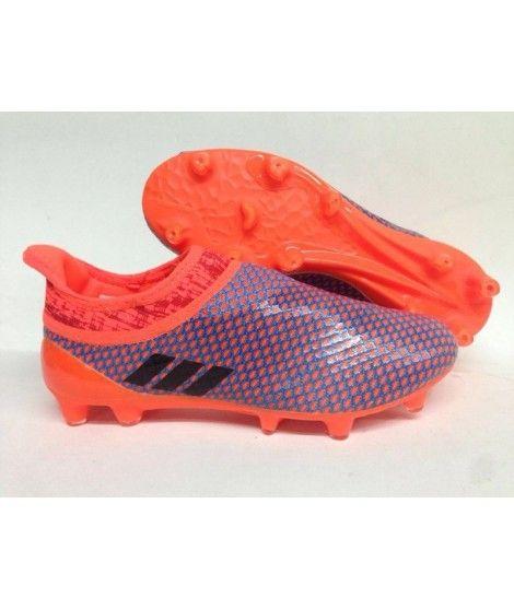 finest selection 5624d 45ea9 Adidas MESSI 16 Pureagility FG-AG FODBOLDSTØVLE BLØDT UNDERLAG  KUNSTGRÆSfodboldstøvler Orange Blå Sort