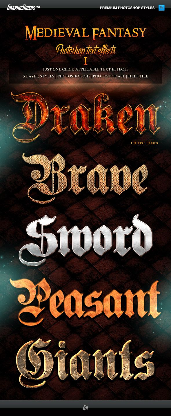 Medieval Fantasy Game Style Text Effects 1 stoned rpg