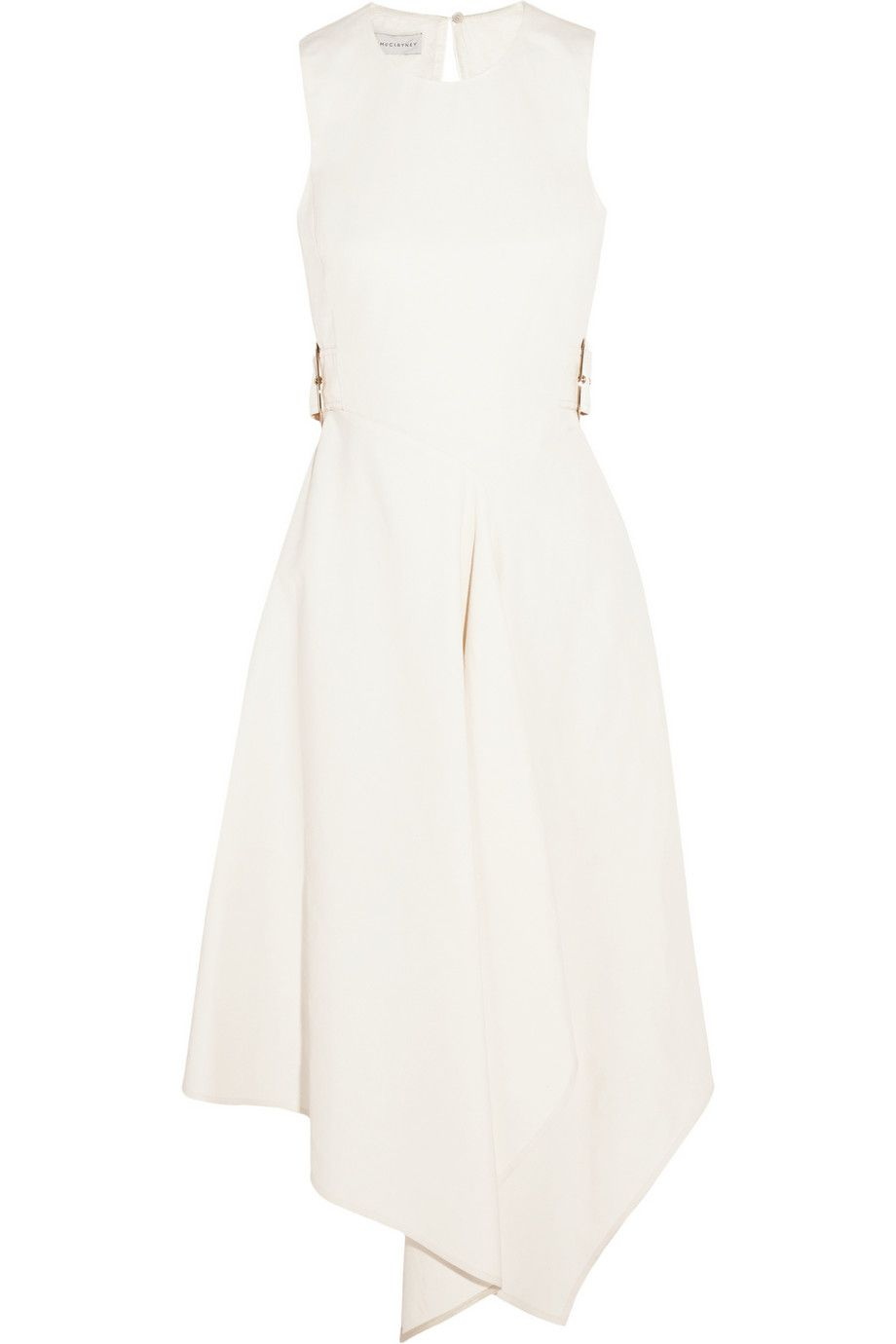 Stella McCartney | Lulu buckled slub twill midi dress