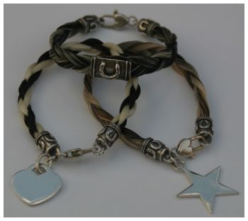 horse hair bracelets made from your own horse's hair (if you have one...) hmmm if only i had the courage to cut off some of ace's tail