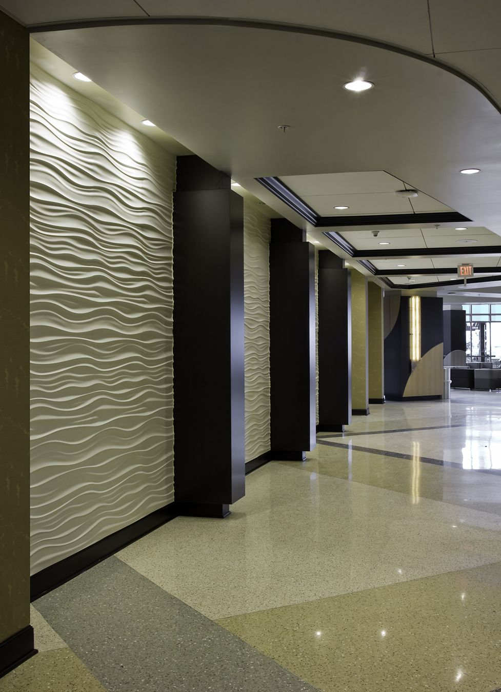 Hospital Corridor Lighting Design: Help To Model Wall With Wavy Engraving In 3ds