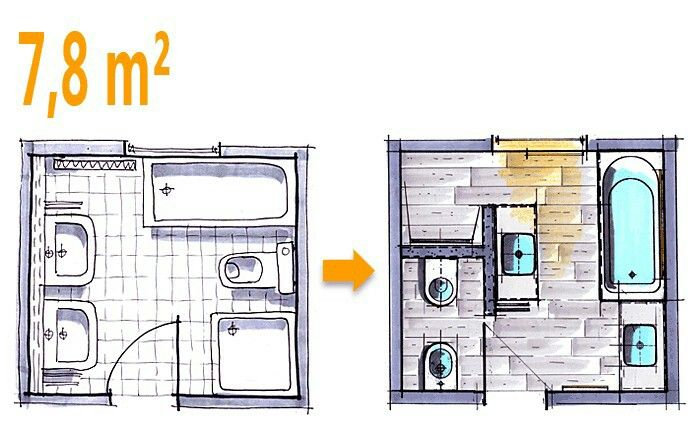 Modernes Badezimmer Grundriss